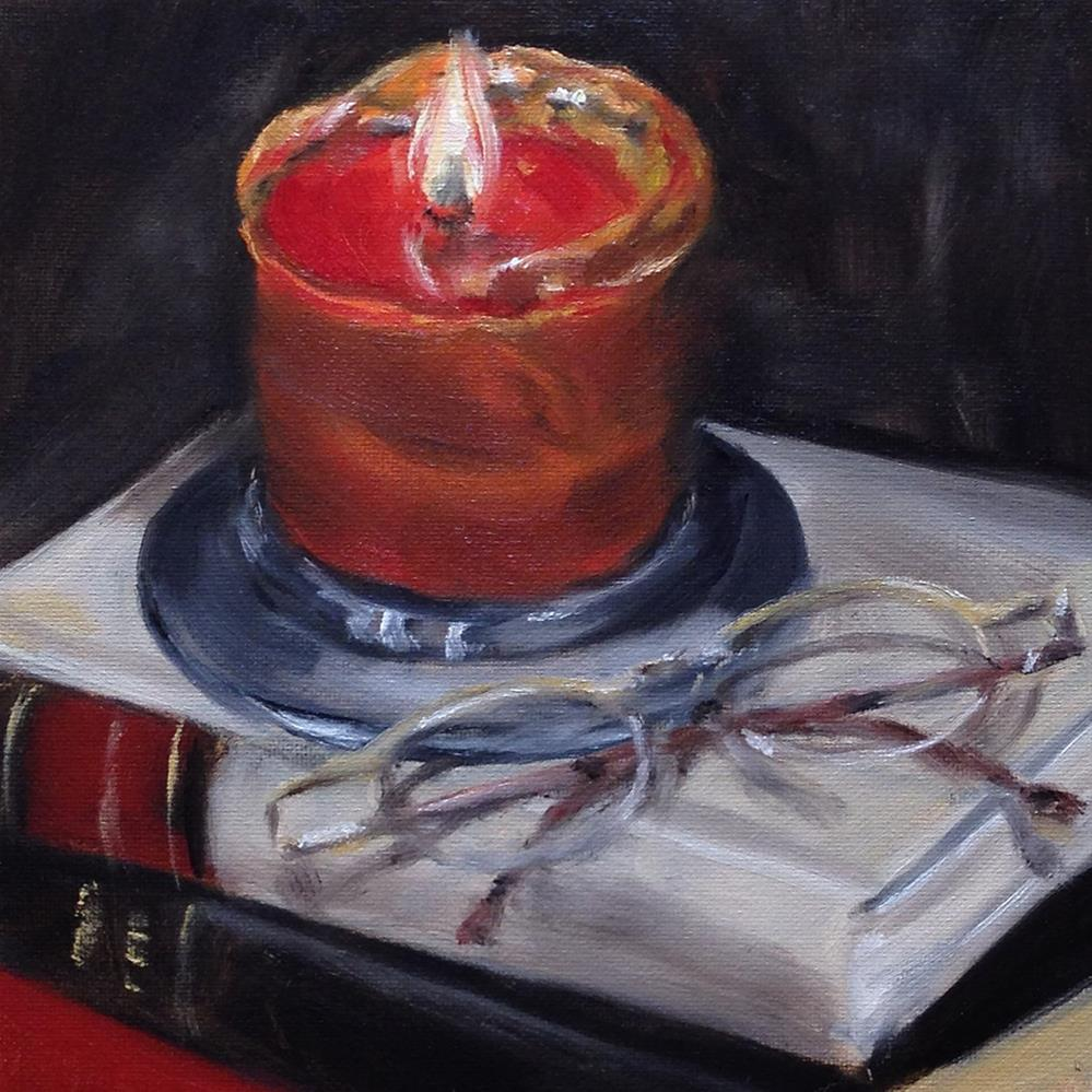 """By Candle Light"" original fine art by Linda Lowery"