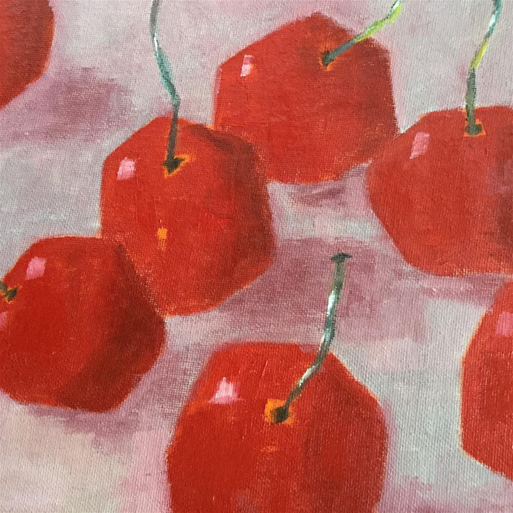 """Cherry Top"" original fine art by pamela kish"