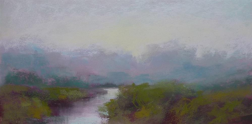 """""""Dealing with Green in a Pastel Painting"""" original fine art by Karen Margulis"""