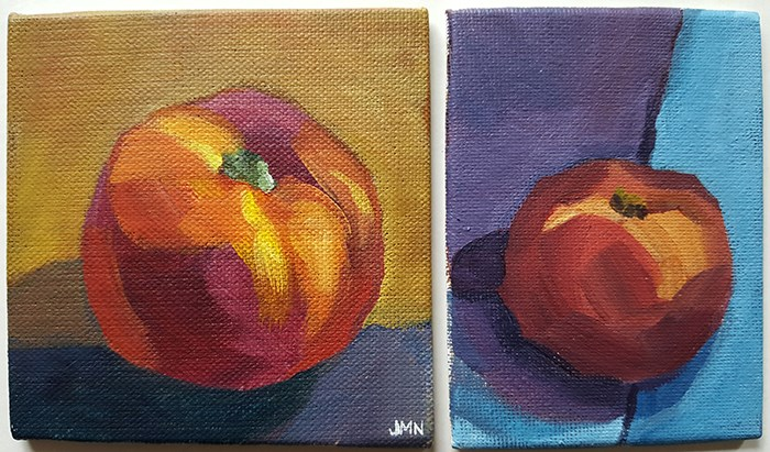 """Nectarine Studies"" original fine art by J M Needham"