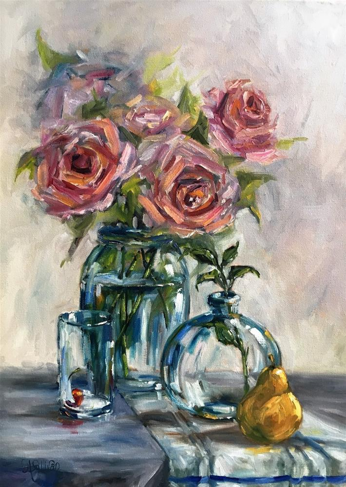 """Still Life painting I See Clear Through You by Alabama Artist Angela Sullivan"" original fine art by Angela Sullivan"