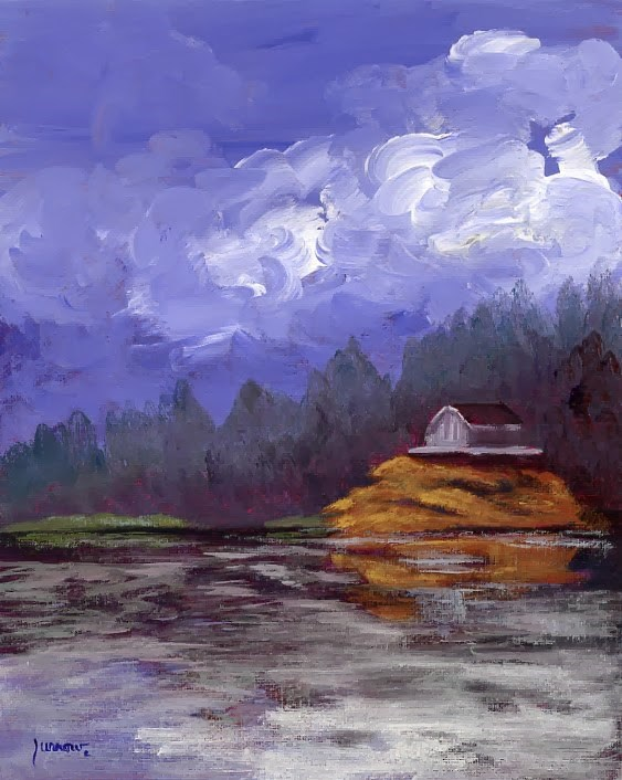 """Day 29 of 30 day Challenge Smith Mountain Lake"" original fine art by Sue Furrow"