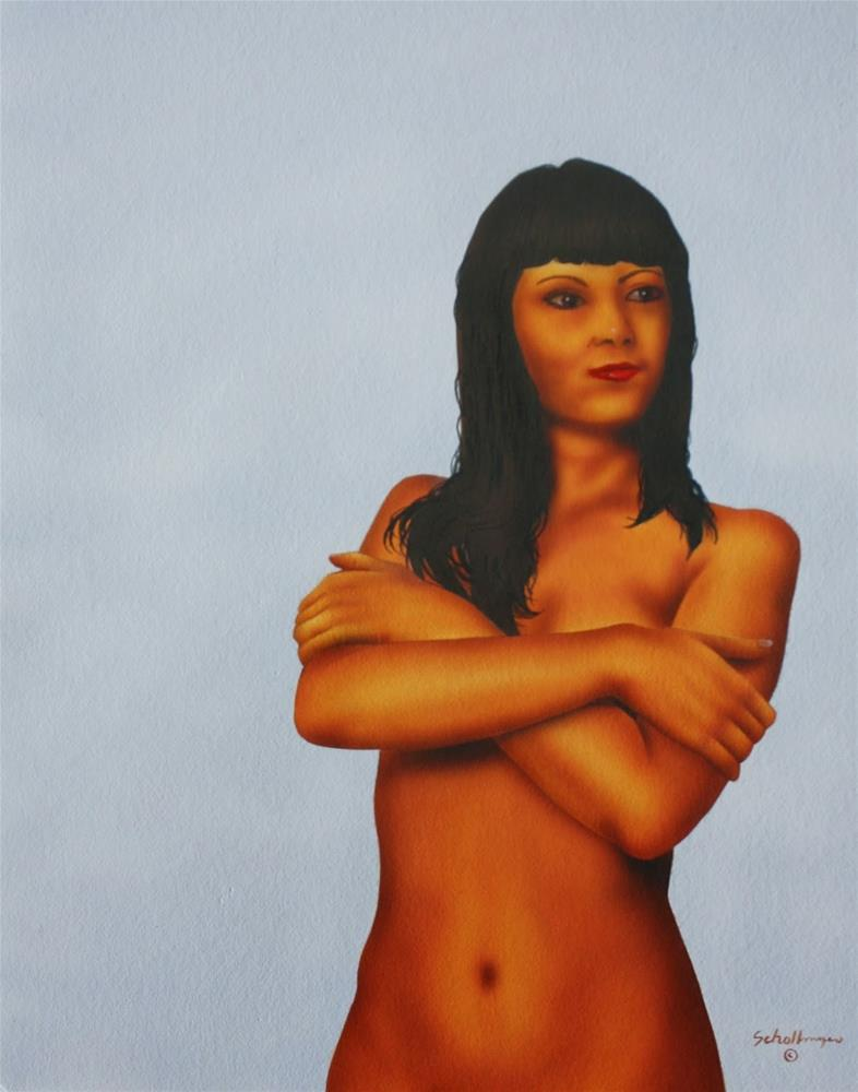 """""""Mandie"""" original fine art by Fred Schollmeyer"""