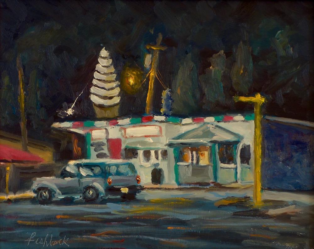 """Dairy Isle Nocturne"" original fine art by Daniel Fishback"