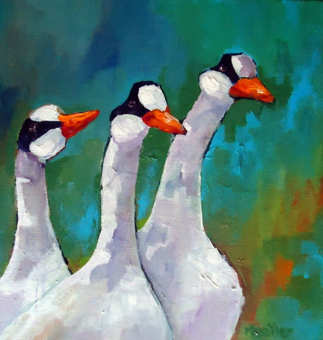 """""""Here Comes Trouble"""" original fine art by Laurie Mueller"""