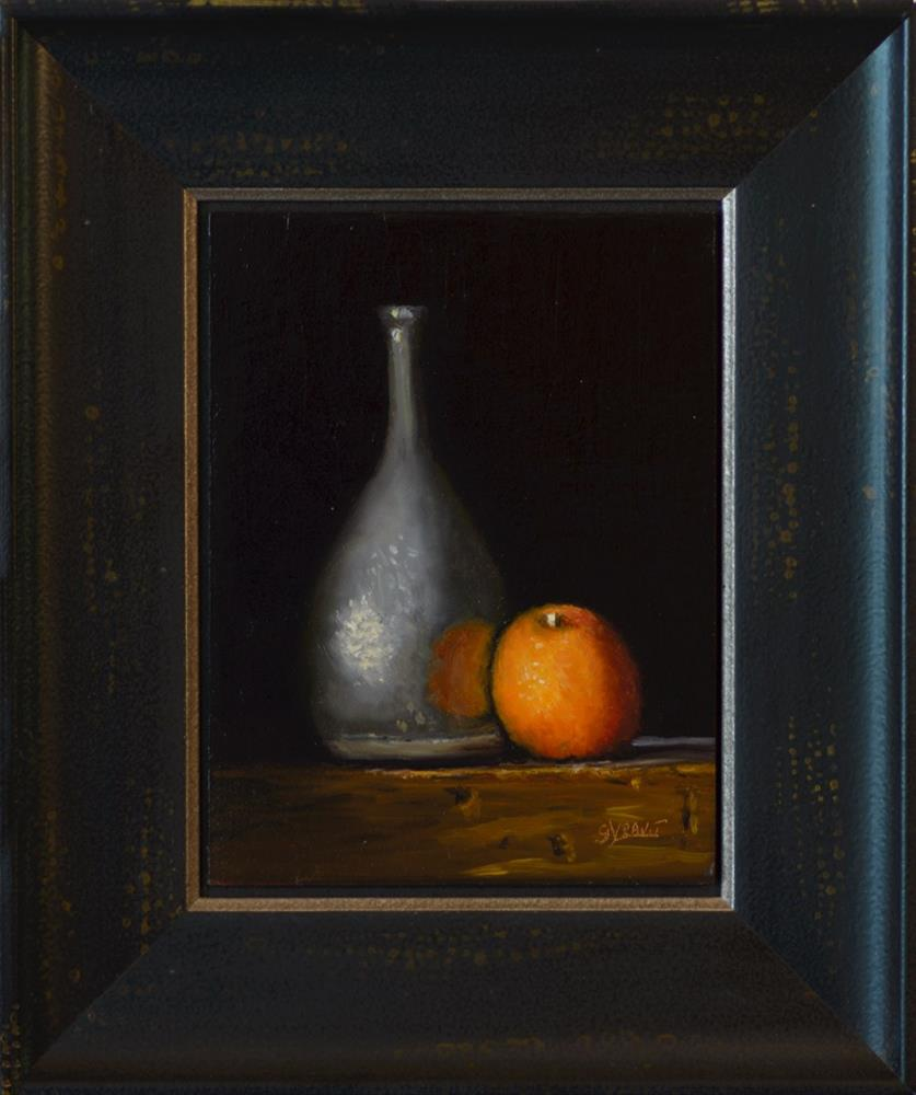 """Vase and Orange"" original fine art by Garry Kravit"