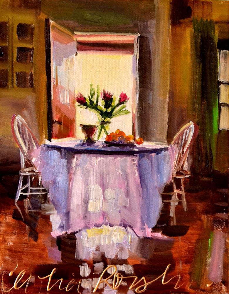 """TABLE DE CUISINE"" original fine art by Cecilia Rosslee"