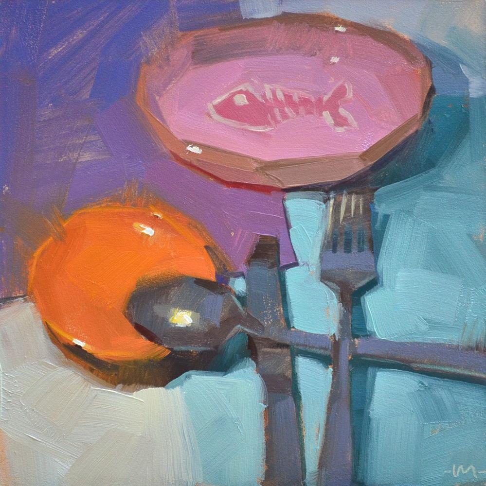 """Fish Dish"" original fine art by Carol Marine"