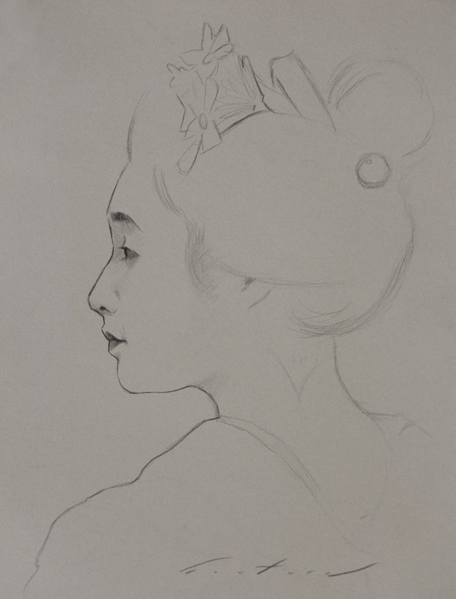 """Study of Maiko Mameroku"" original fine art by Phil Couture"