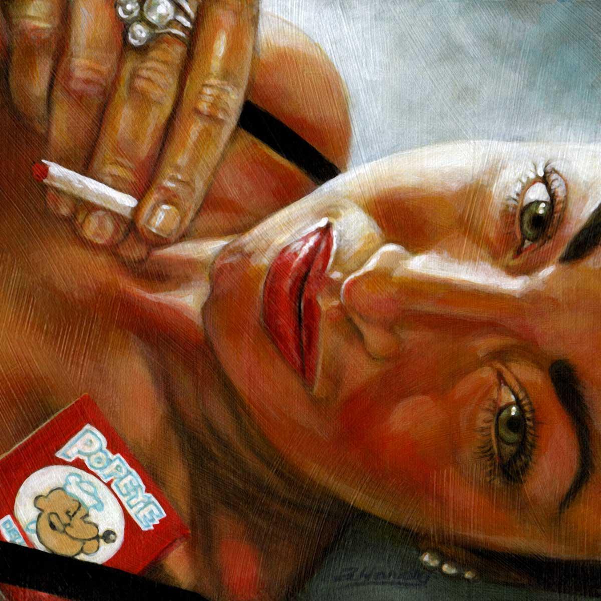 """At Arms Length#22, Angela..Oh Popeye "" original fine art by Angela Hardy"