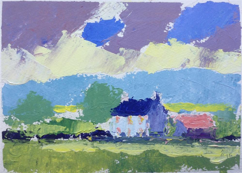 """Farmhouse"" original fine art by Joseph Mahon"