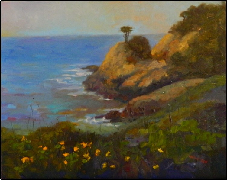 """View from Cypress Grove Trail, 20x16, oil on linen"" original fine art by Maryanne Jacobsen"