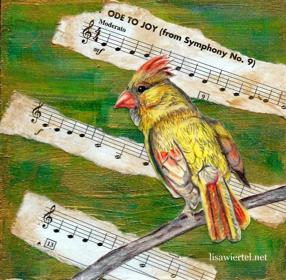 """""""Ode To Joy"""" original fine art by Lisa Wiertel"""