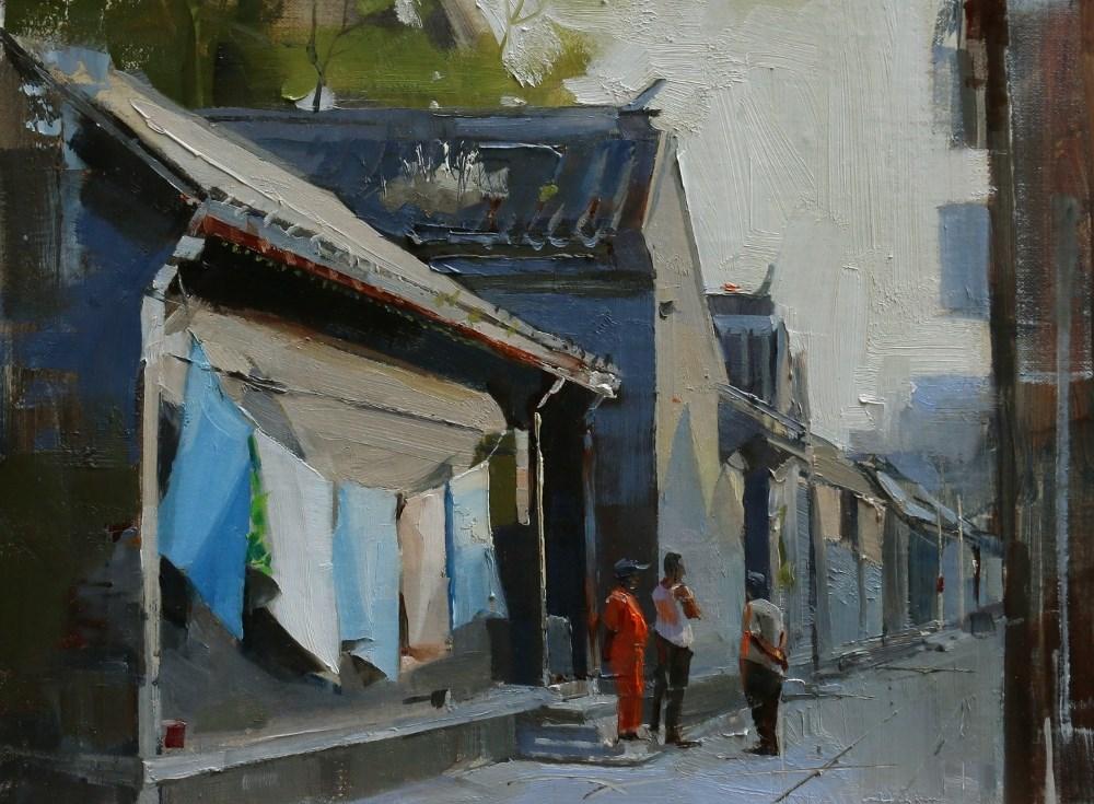 """""""Beijing Hutong 2014 - 7"""" original fine art by Qiang Huang"""