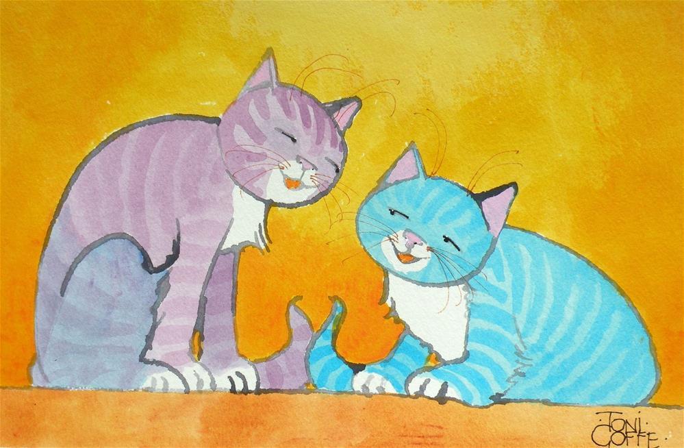 """Dat Funny"" original fine art by Toni Goffe"