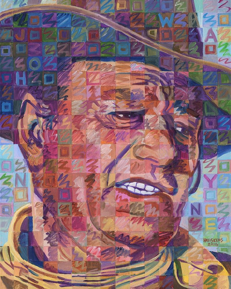 """John Wayne No. 2"" original fine art by Randal Huiskens"