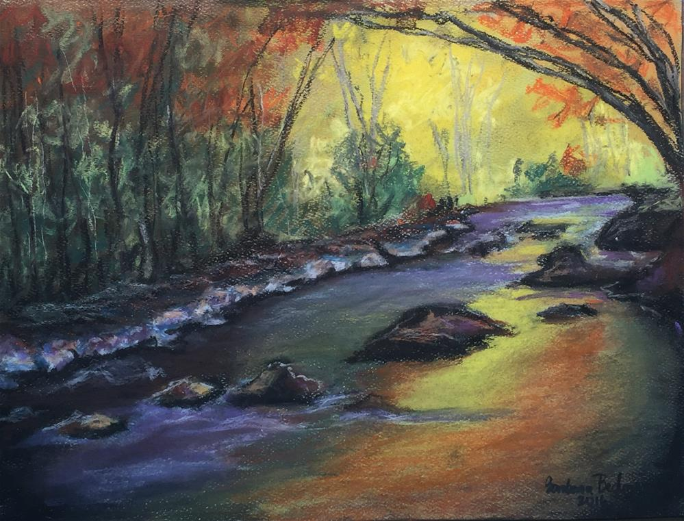 """Serenity by the brook side"" original fine art by Barbara Beckmann"