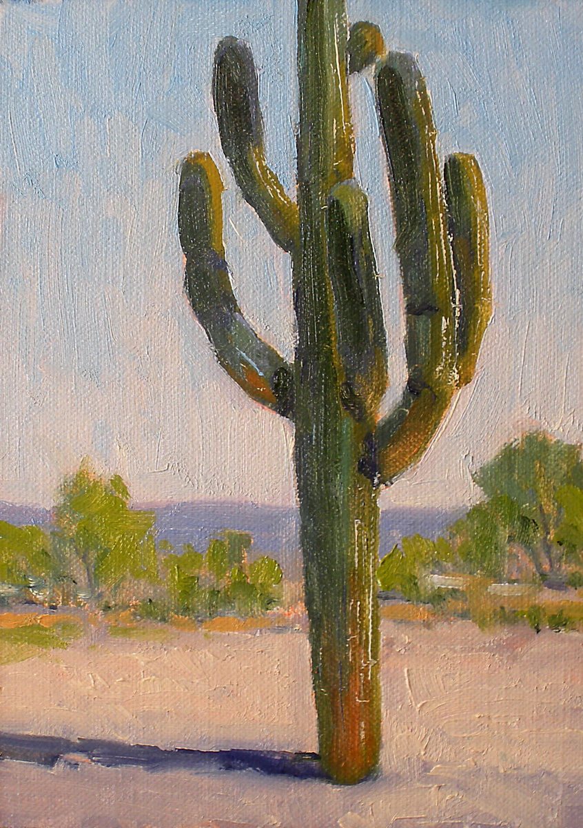 """Langtry Saguaro"" original fine art by David Forks"