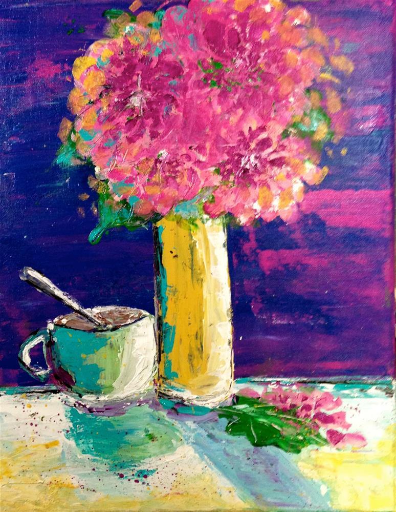 """Turquoise Vse"" original fine art by Barbara Beckmann"