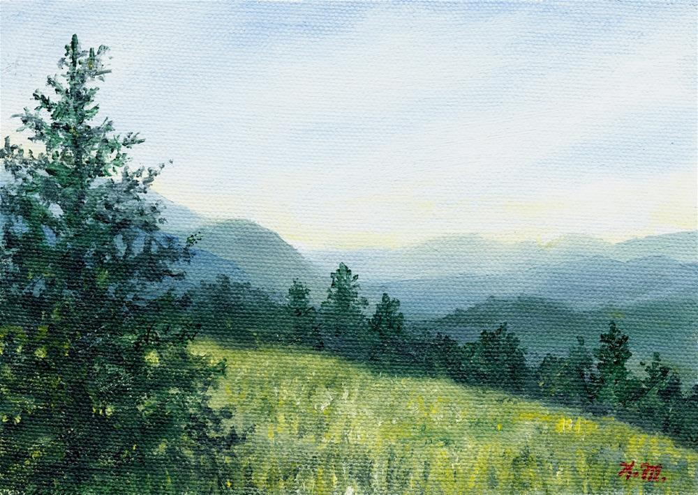 """Blue Ridge Mountain Meadow"" original fine art by Kathleen McDermott"