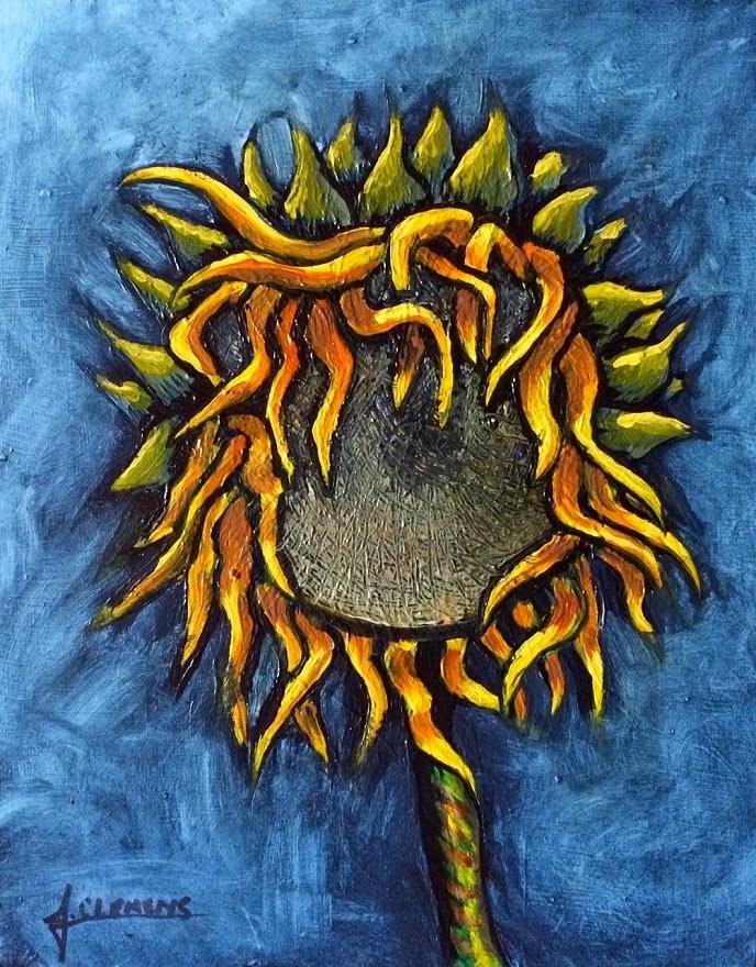 """""""Sunflower"""" original fine art by Jolynn Clemens"""