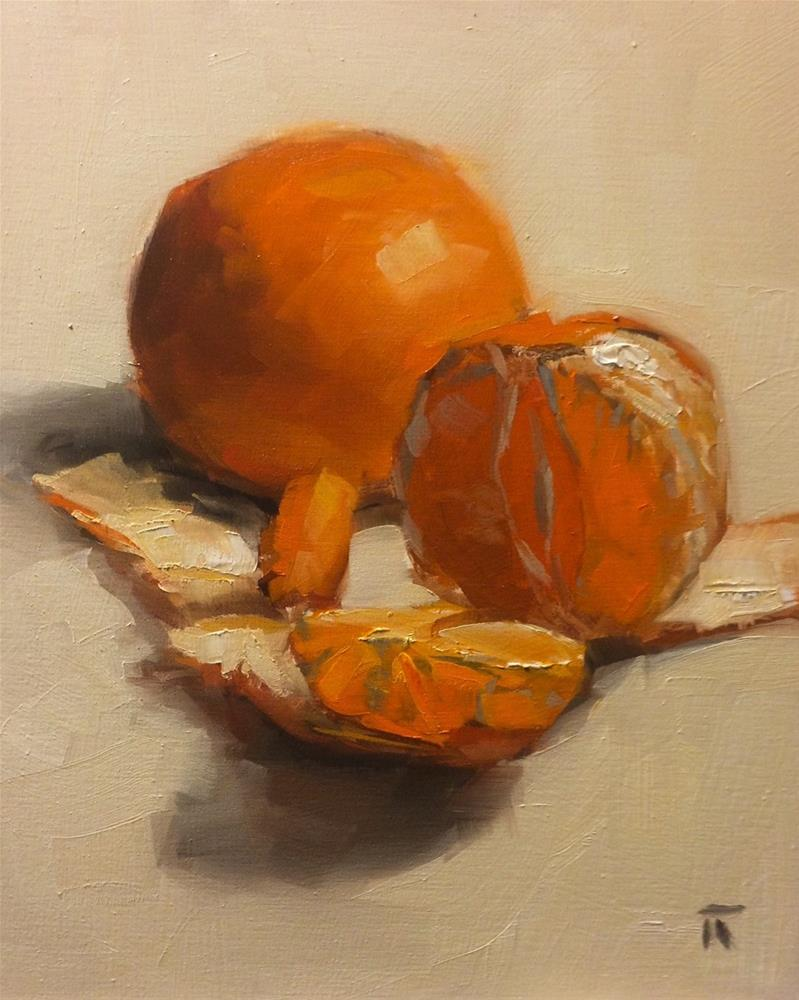 """Orange Study"" original fine art by Thomas Ruckstuhl"