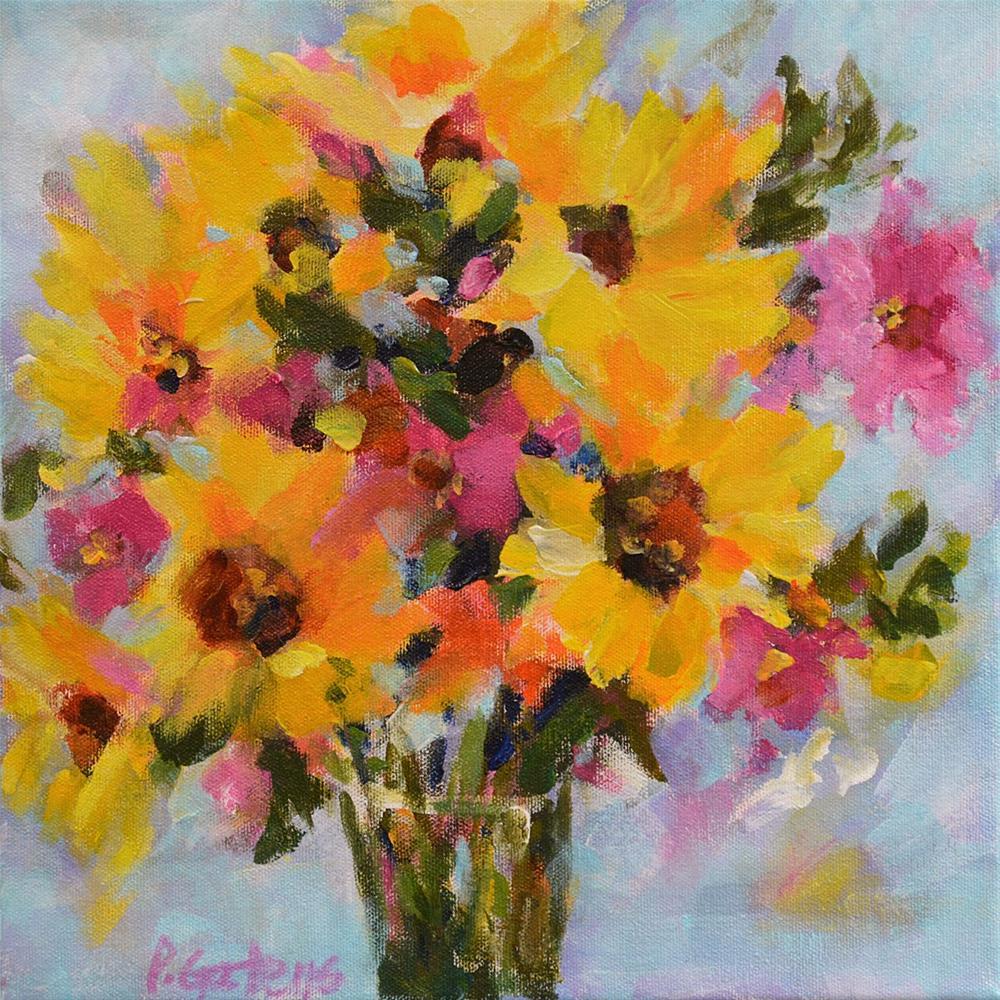 """Special Sunflowers"" original fine art by Pamela Gatens"