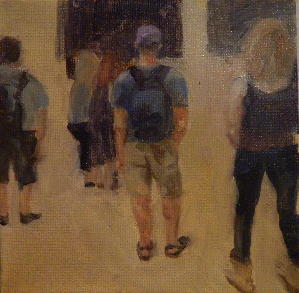 """Concert Crowd"" original fine art by Debra Shore"