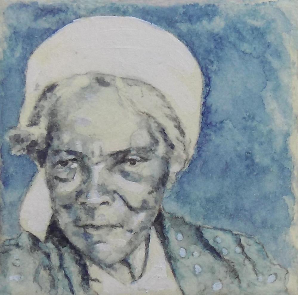 """The White Kerchief"" original fine art by Emily Clanton"