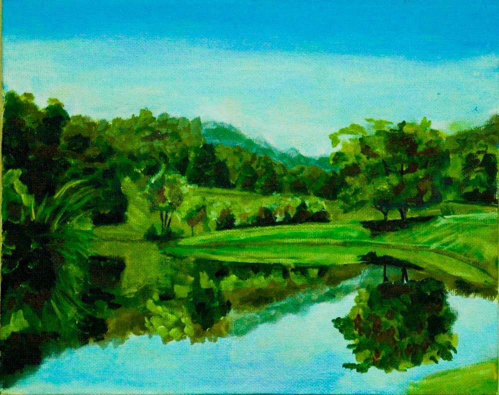 """Menallan Pond"" original fine art by Ted Michaelis"