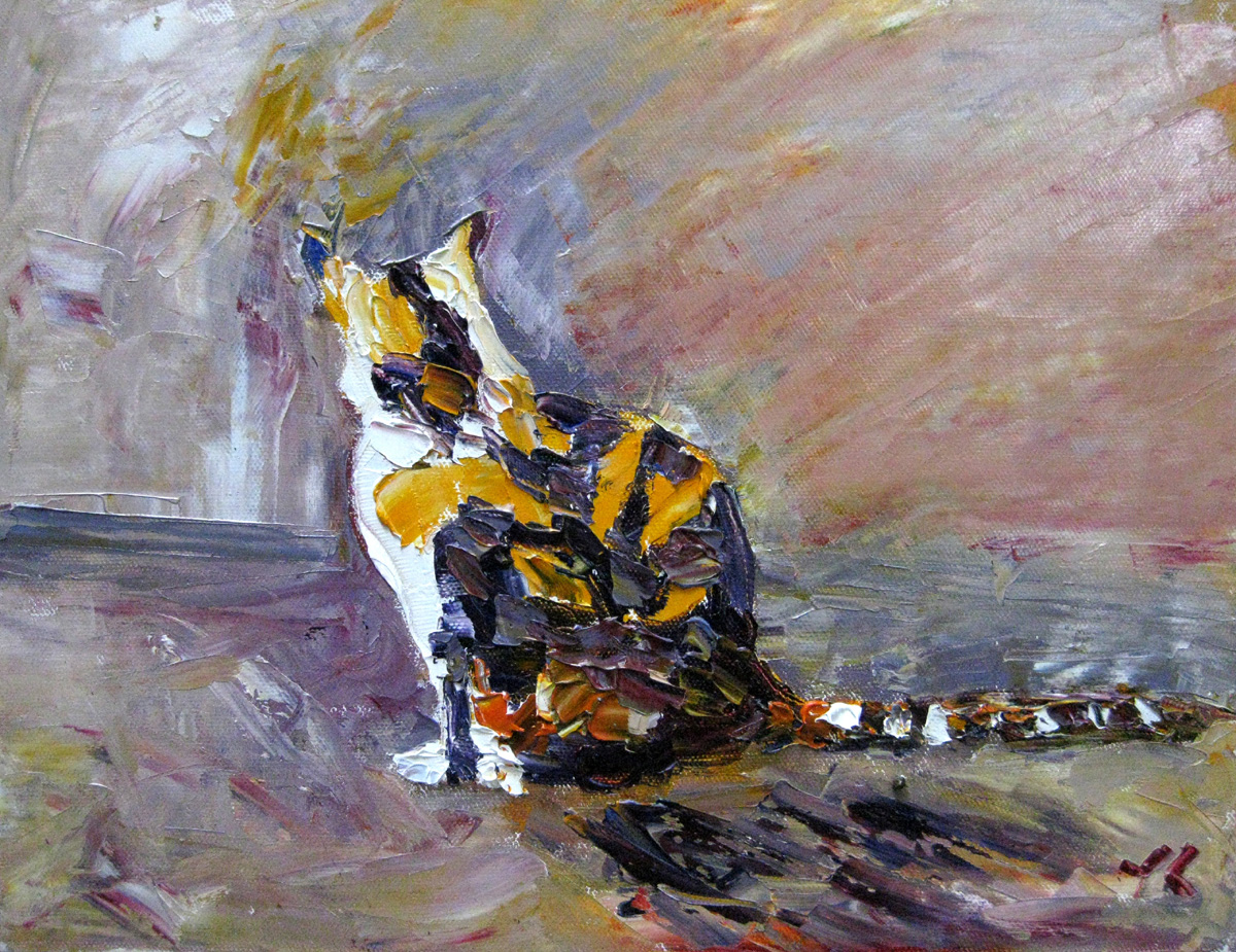 """Tiger"" original fine art by Julia Lu"