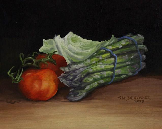 """""""Asparagus 130309"""" original fine art by Sue Deutscher"""