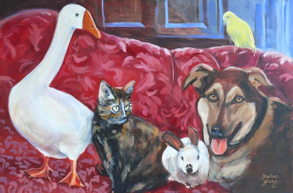 """756 The Perfect Family"" original fine art by Darlene Young"