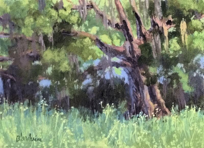 """Live oak Tree"" original fine art by Linda Blondheim"