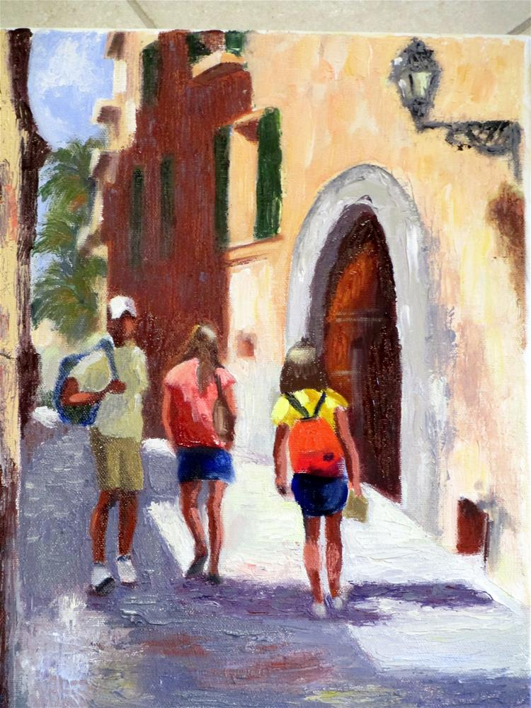 """""""Exploring Malaga"""" original fine art by Judy Elias"""
