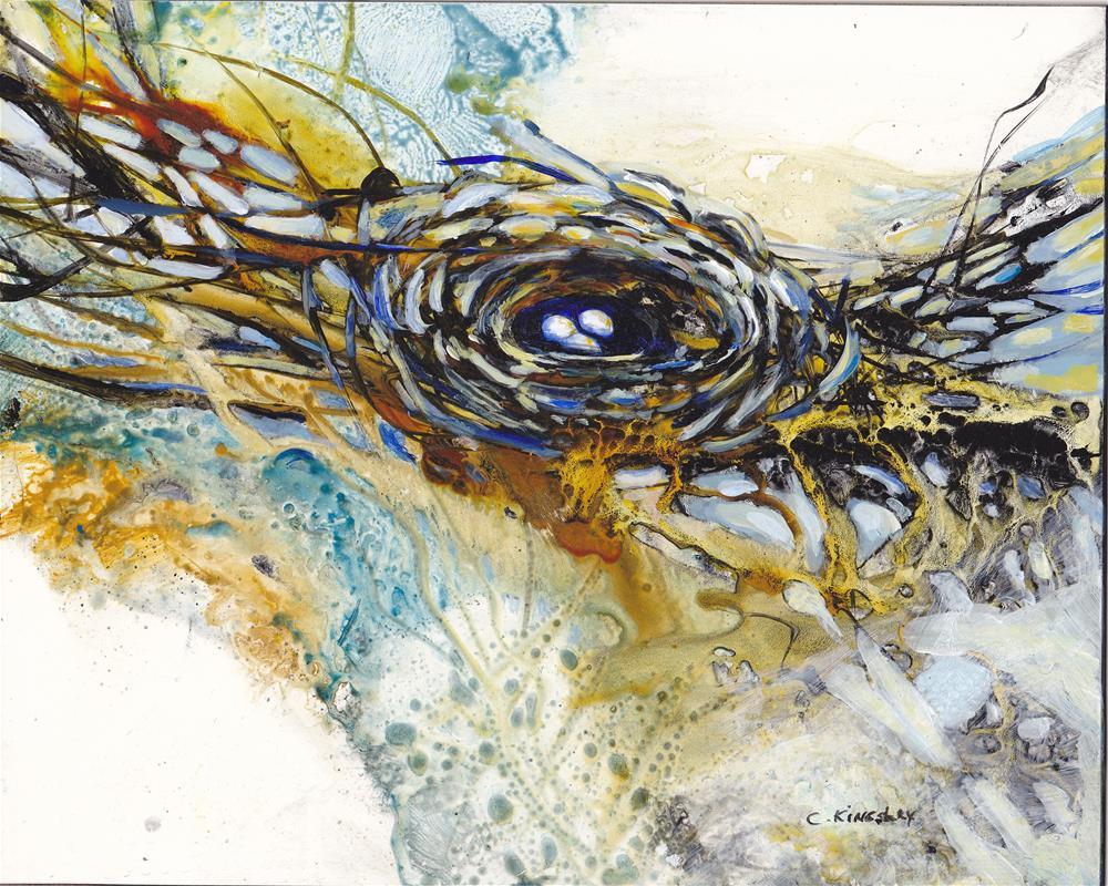 """Three Promises"" original fine art by Christiane Kingsley"