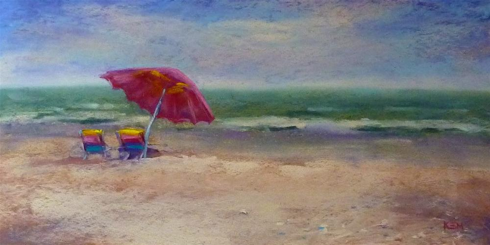 """A Beautiful Place to Paint...Sanibel Island"" original fine art by Karen Margulis"