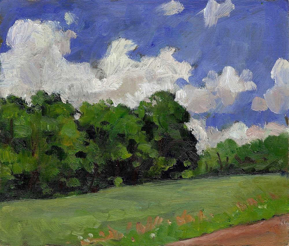 """Summer Field, Vermont"" original fine art by Thor Wickstrom"