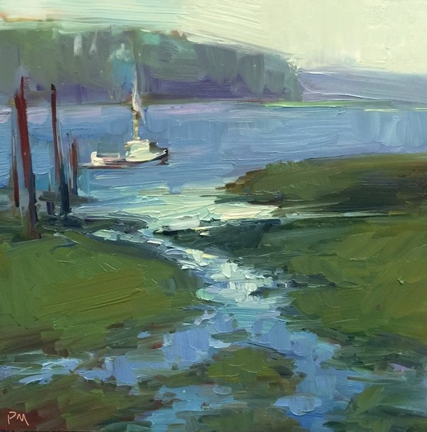 """Yaquina Bay, Revisited"" original fine art by Patti McNutt"