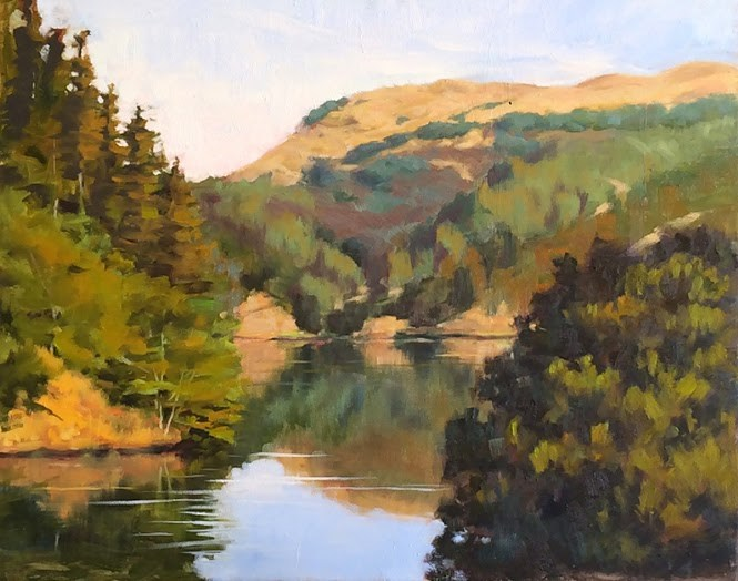"""Phoenix Lake"" original fine art by Deborah Newman"