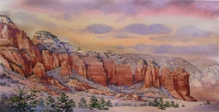 """Coffee Pot Range, Sedona"" original fine art by Jean Pierre DeBernay"