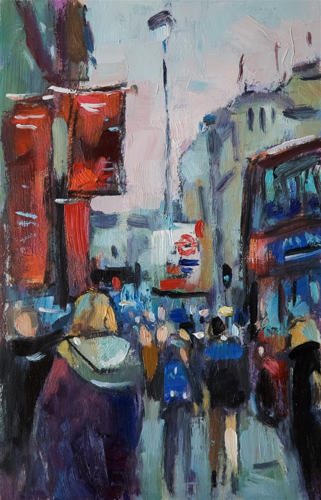 """Flags at the Royal Academy"" original fine art by Andre Pallat"