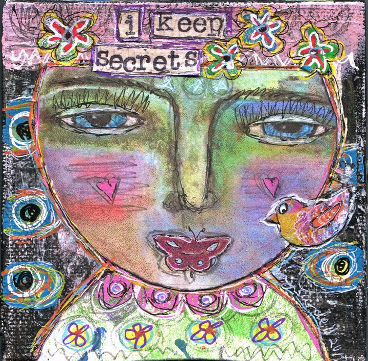 """I Keep Secrets"" original fine art by Sonja Sandell"