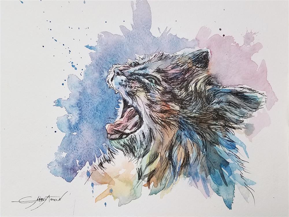 """Morning Cat"" original fine art by Gabriella DeLamater"