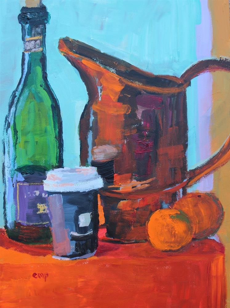 """Still Life Copper Container"" original fine art by Christine Parker"