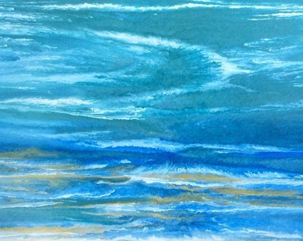 """Impressipnist Seascape,Coastal  Art Storm's a Brewin'-Study 7 by International Contemporary Artist"" original fine art by Kimberly Conrad"