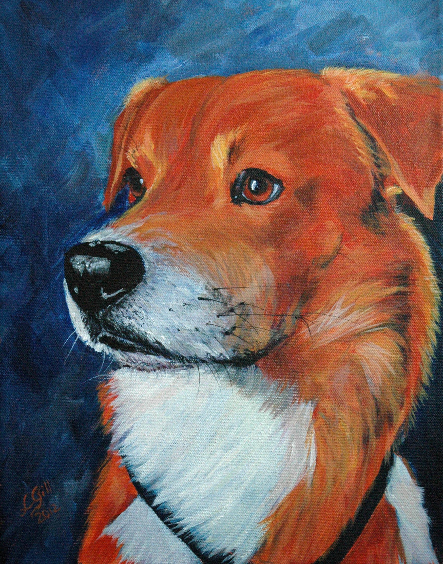 """Zuka Tango!"" original fine art by Lyn Gill"