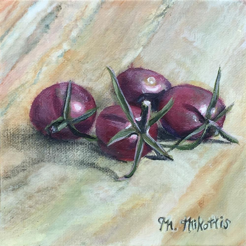 """Heirloom Cherry Tomatoes"" original fine art by Michael Mikottis"