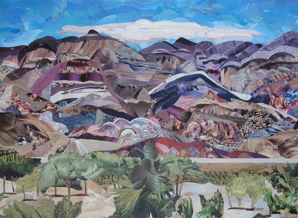 """Panamint Mountains"" original fine art by Cynthia Frigon"
