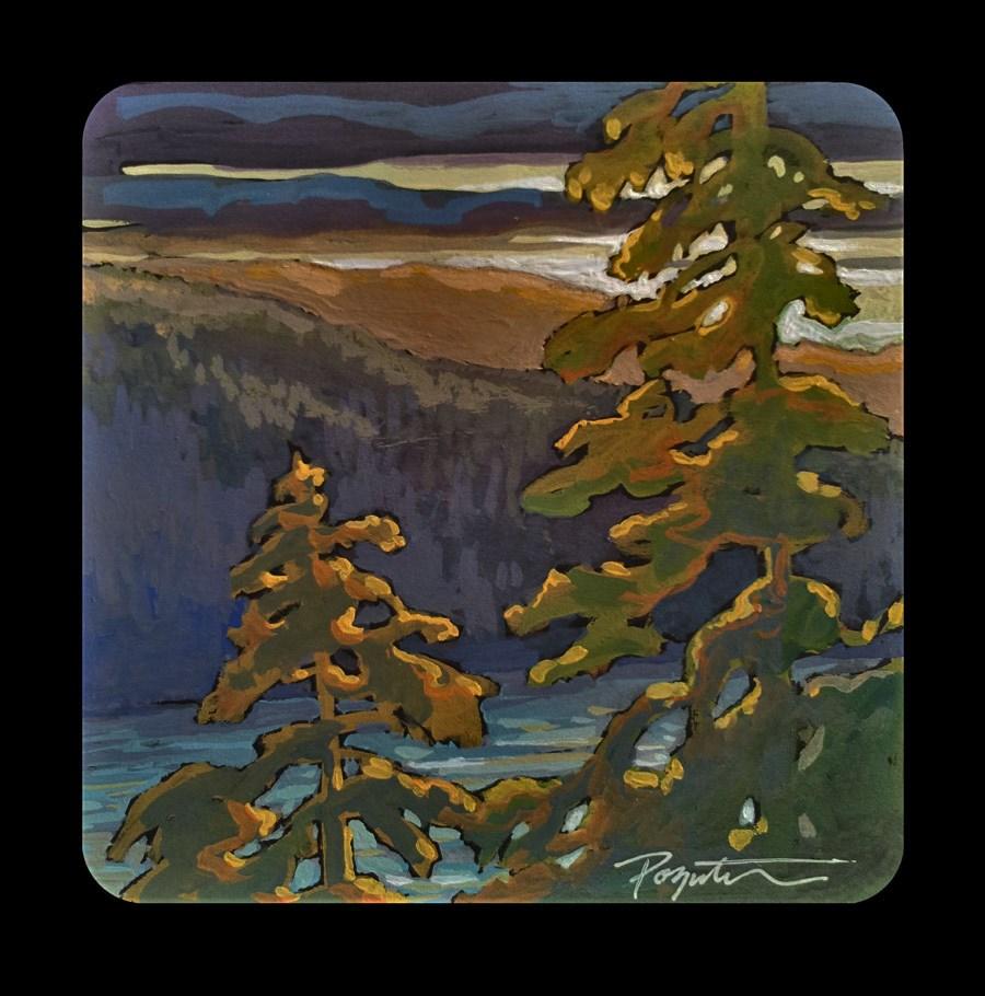 """""""3.05 Howe Sound backlit"""" original fine art by Jan Poynter"""